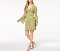 Betsey Johnson Lace Bell-Sleeve Dress, Olive