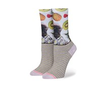 Stance Girls Kiwi Socks, White/Pink