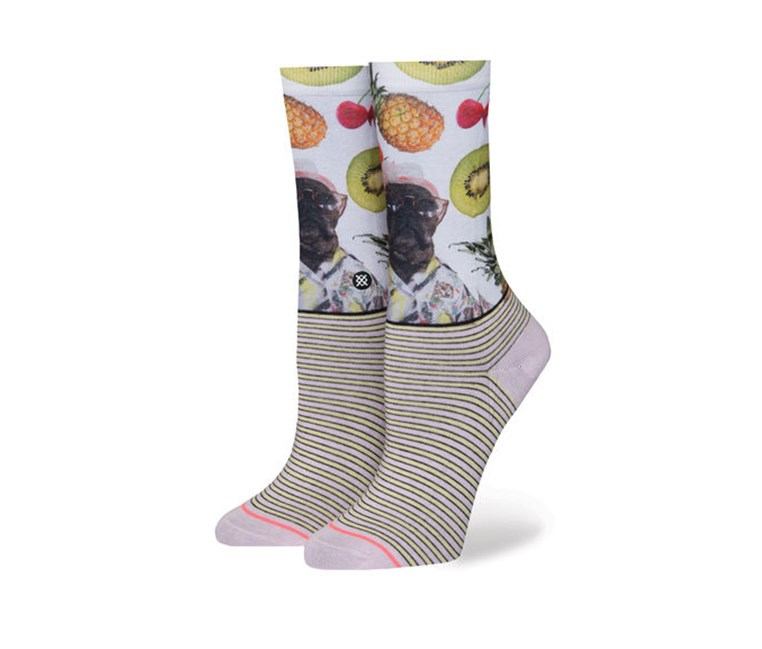 Girls Kiwi Socks, White/Pink