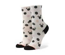 Stance Girls Pastel ot Minnie Socks, White/Black
