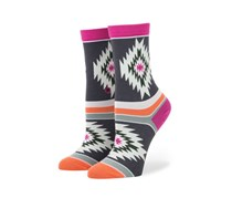 Stance Kay Girls Socks, Grey/Peach/Purple