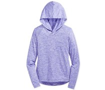 Ideology Girls Heathered Pullover Hood, Purple