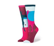 Stance Girls Alto Socks, Blue/Burgundy