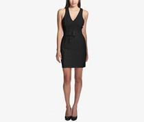 Guess Women's Lace-Up Corset Sheath Dress, Black