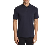 Theory Standard Tipped Regular Fit Polo Shirt, Eclipse/Black