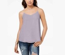 Hippie Rose Juniors V-Neck Tank Top, Light Purple