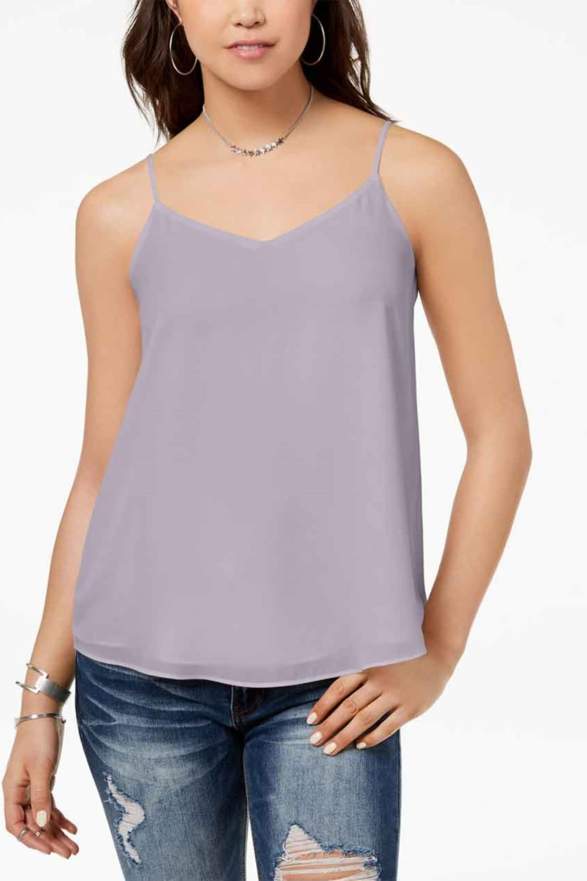 Juniors V-Neck Tank Top, Light Purple