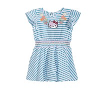 Hello Kitty Baby Girl Striped Dress, Tahiti Blue