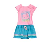 Hello Kitty Baby Girls 2-Pc. Graphic-Print Top & Skirt Set, Pink/Blue