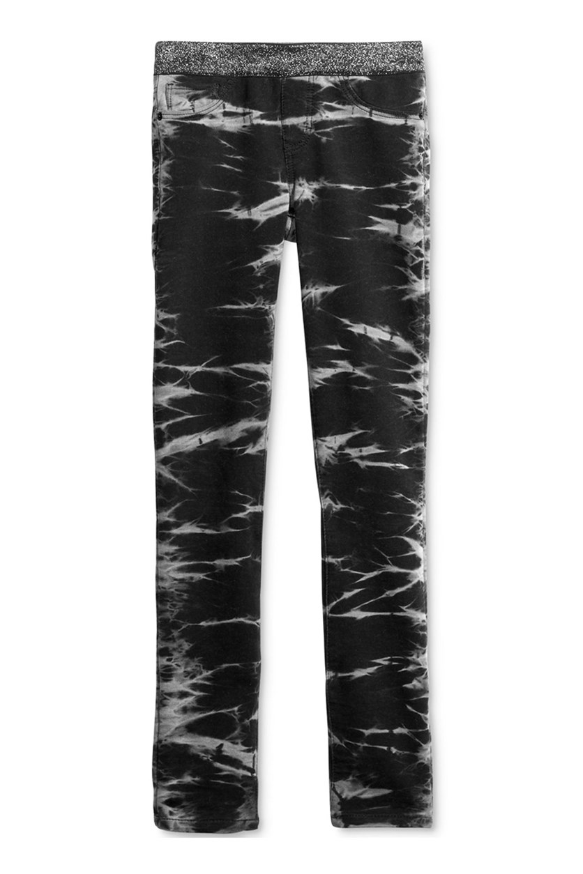 Big Girls Skinny-Fit Knit Jeans, Black Marble