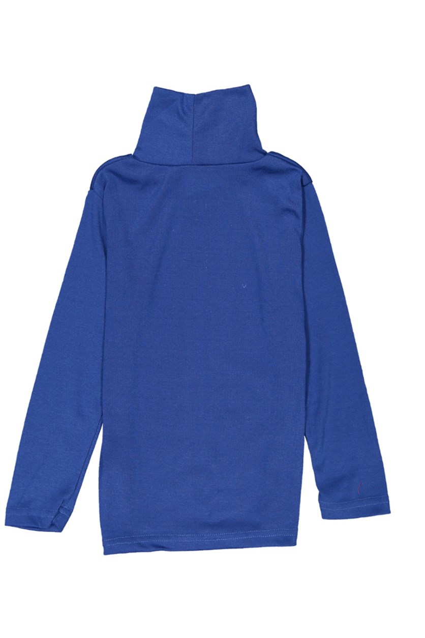 Kid's Girl Turtle Neck Tops, Royal