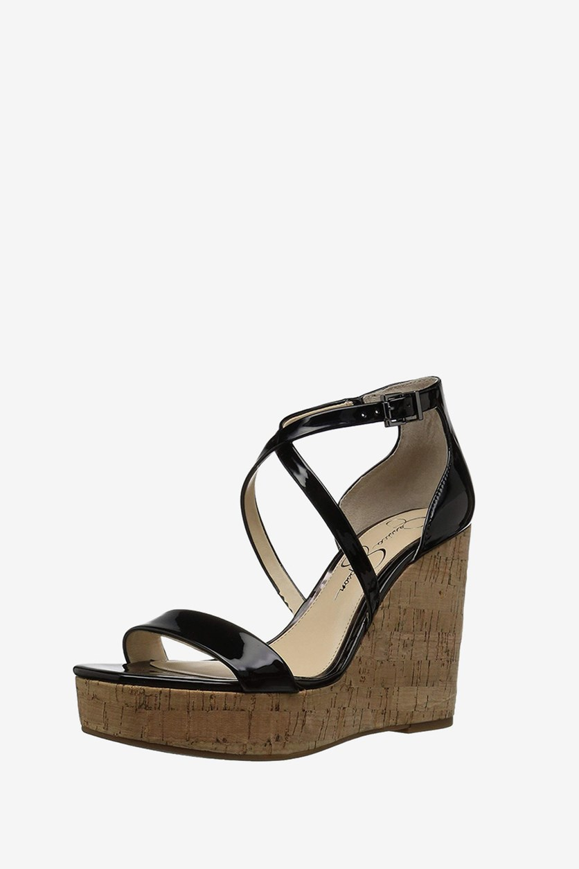 Stassi Wedge Sandals, Black