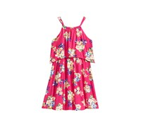 Kandy Kiss Floral-Print Popover  Halter Dress, Fuchsia