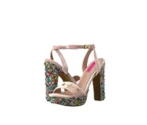 Betsey Johnson Women's Kenna Dress Sandal, Blush Combo