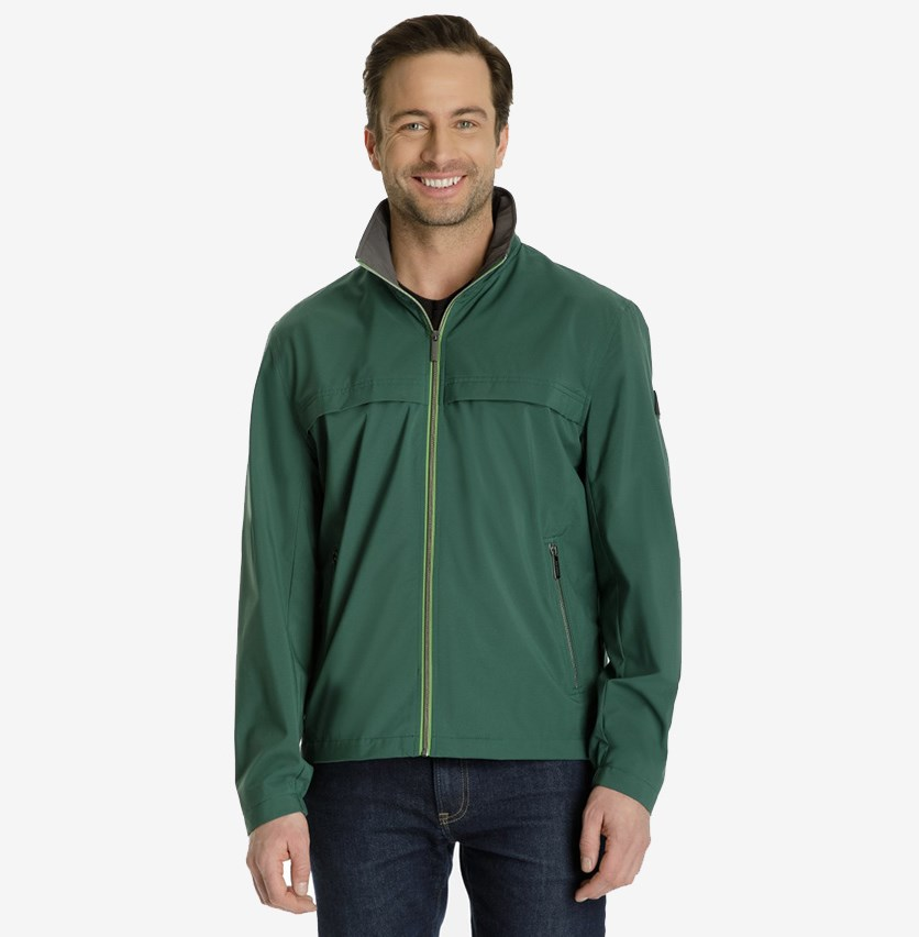 Mens Mechanical Stretch Jacket, Pine Green