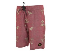 Lost at Sea Men's Regulator Board Short, Red