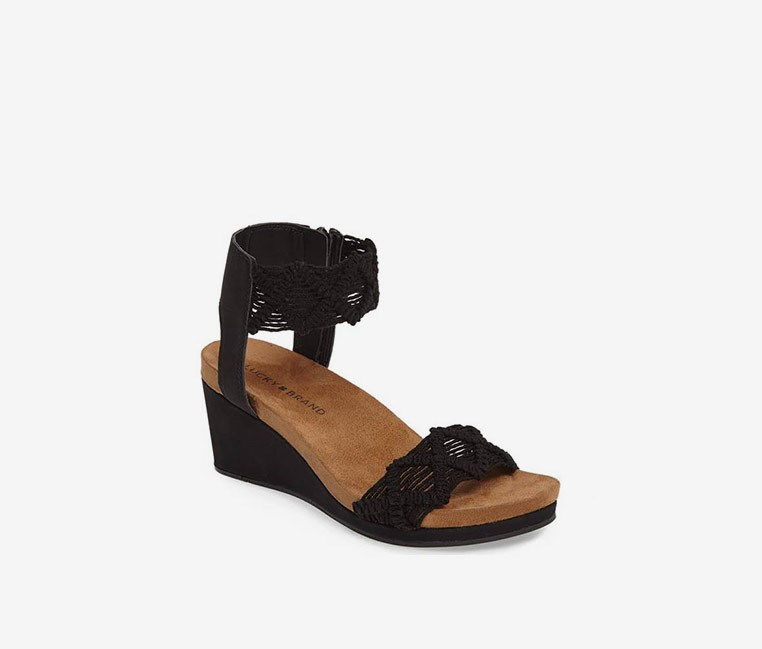 Women's Kierlo Wedge Sandal, Black
