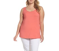 Nic+Zoe Women's Plus Size Sleeveless Top, Coral Crush
