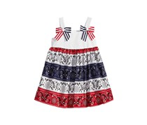 Bonnie Baby Bandana Dress, White/Red/Navy