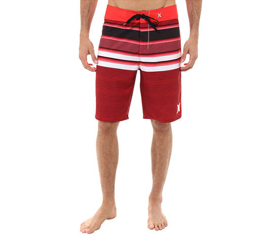 Hurley Men's Wasteland Boardshort Swimwear, Red