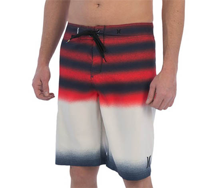Hurley Men's Destroy Boardshorts, White/Red