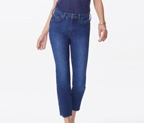 Nydj Women's Sheri Frayed Hem Slim Ankle Jeans, Dark Blue
