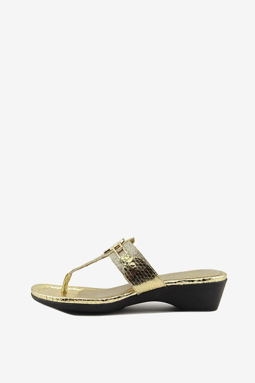 Women's Amina 2  Thong Sandal, Gold