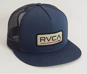 RVCA Big Block Trucker Hat, Navy