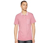 RVCA Mens Pocket Polo, Rose