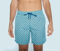 Mr. Swim Men's Geometric Print Swim Shorts, Turquoise