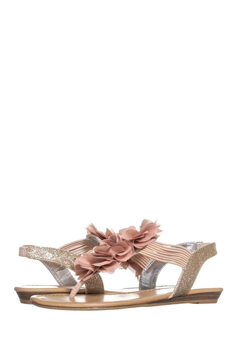Sari Floral Embellished Wedge, Pink