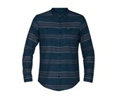Hurley Men's Country Line Long-Sleeve Shirt, Space Blue