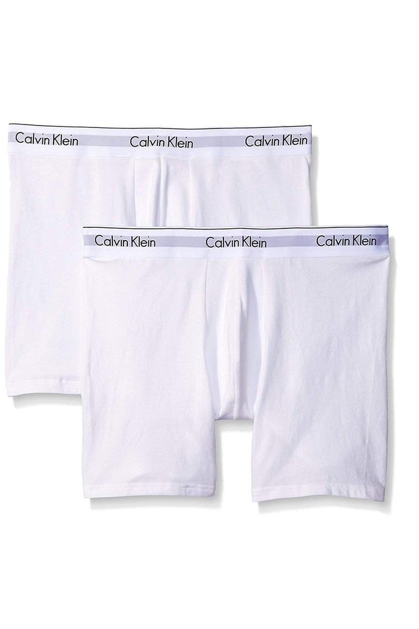 Calvin Klein Men's 2 Pack Modern Cotton Stretch Boxer Briefs, White