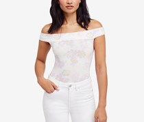 Free People So Much Off The Shoulder Bodysuit, White/Purple