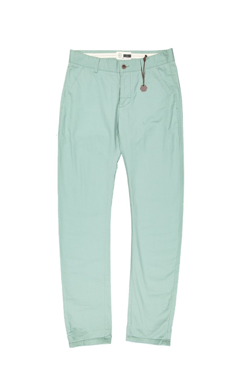 Men's Plain Pants, Pale Green