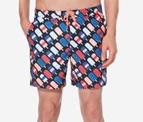 Original Penguin Popsicle Swim Trunks, Dark Sapphire