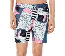 Original Penguin Memphis Print Swim Trunks, Dark Sapphire