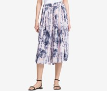 Dkny Printed Pull-On Culottes, Rose Combo