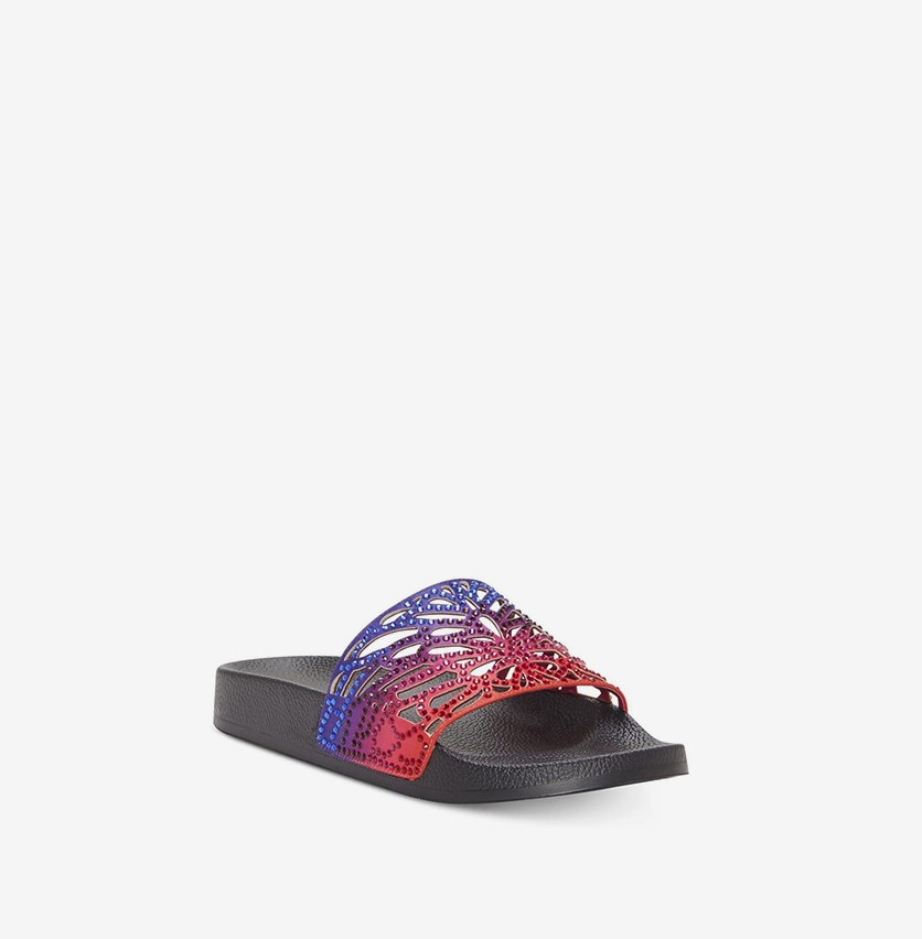 Womens Peymin Pool Slide Sandals, Ombre Black