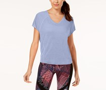 Calvin Klein Performance Relaxed High-Low Hem T-Shirt, Cornflower