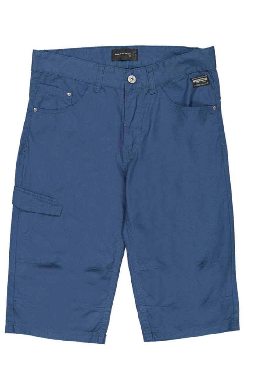 Men's Plain Shorts, Blue
