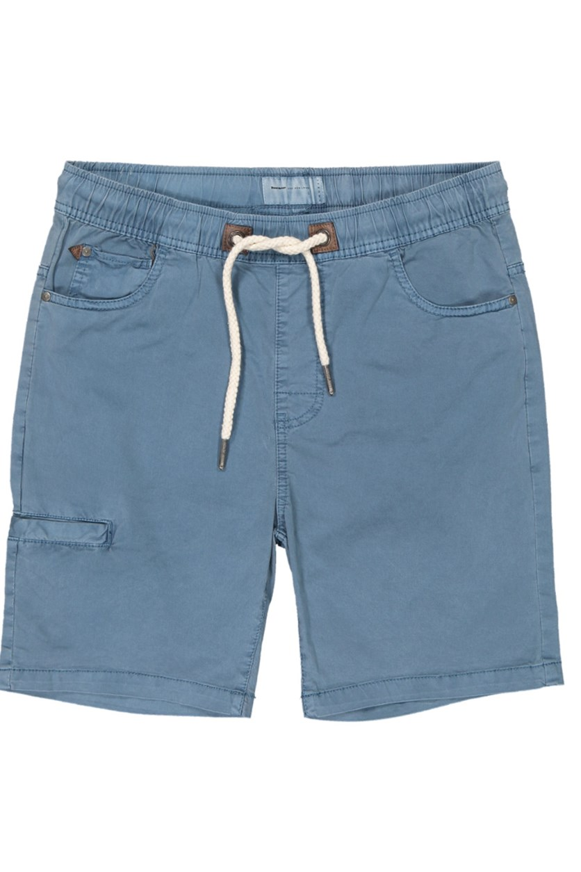 Men's Plain Drawstring Shorts, Blue