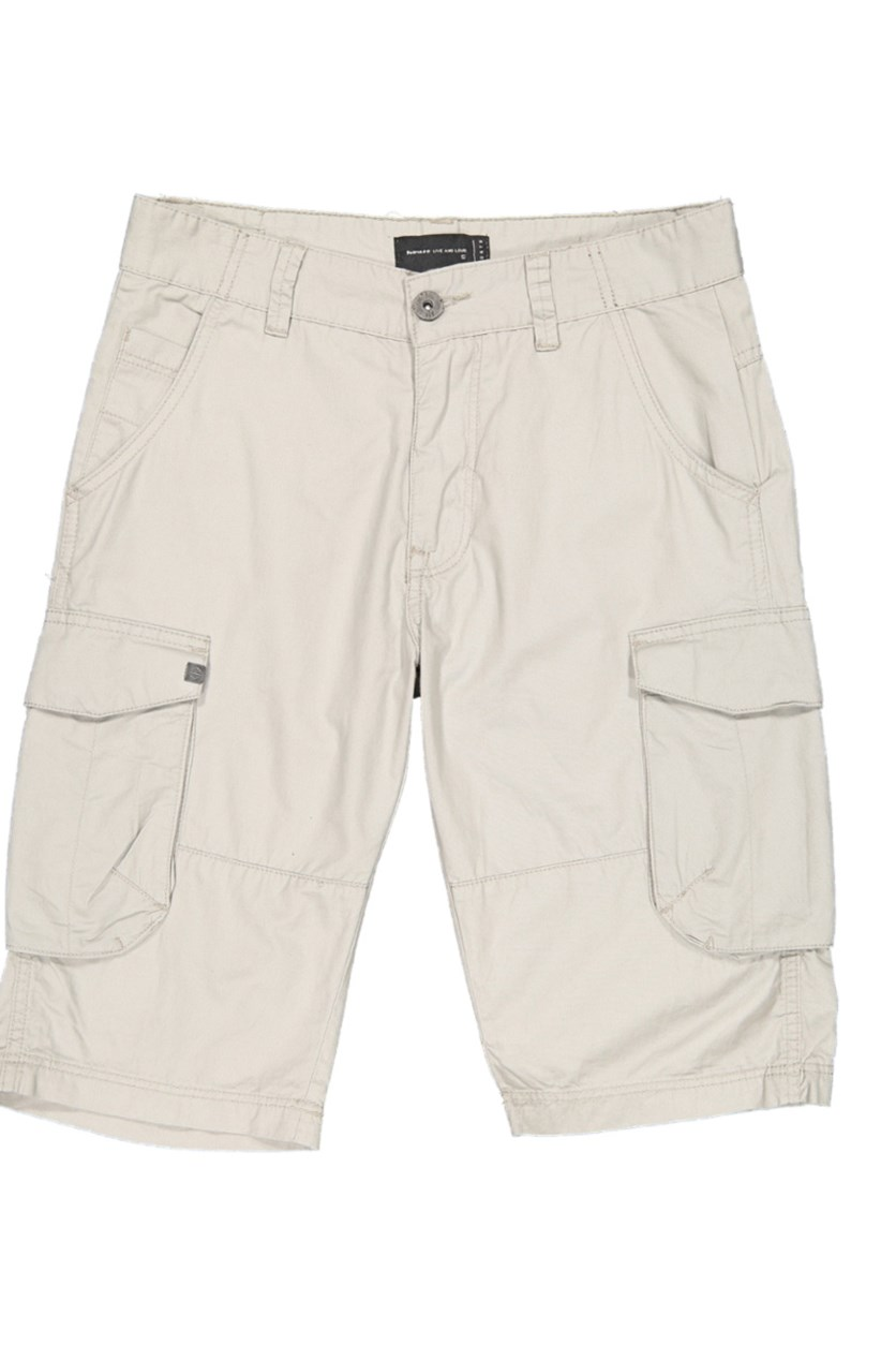 Men's Plain Cargo Shorts, Light Grey
