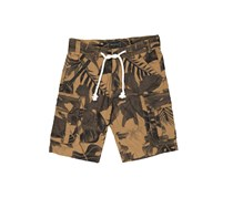 House Men's Printed Cargo Shorts, Brown Combo