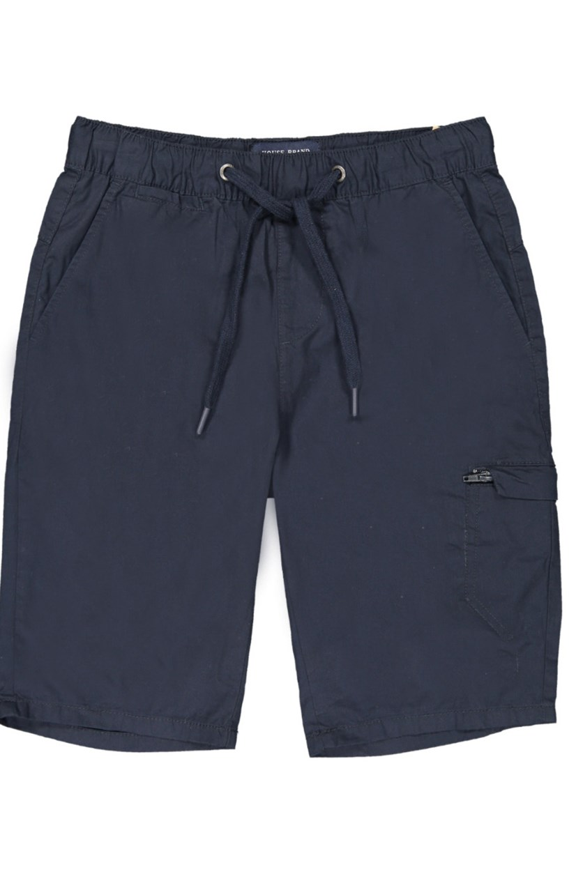 Men's Drawstring Plain Shorts, Navy