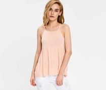 Cropp Womens Pleated Top, Pale Pink