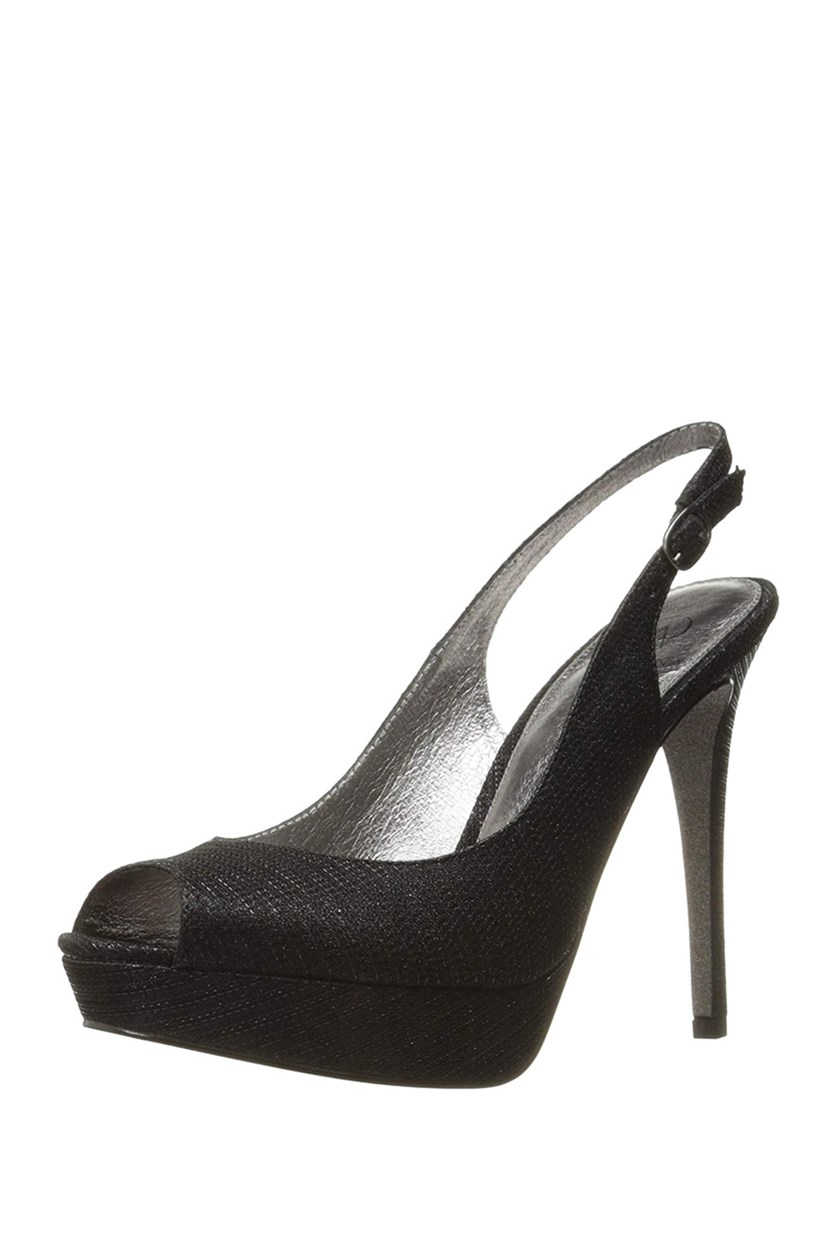 Rita Slingback Evening Sandal, Black