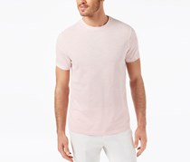 Ryan Seacrest Distinction Men's Slim-Fit Heathered T-Shirt, Pink Solid