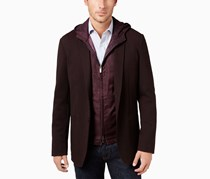 Ryan Seacrest Distinction Men`s Slim-Fit Knit Blazer, Purple