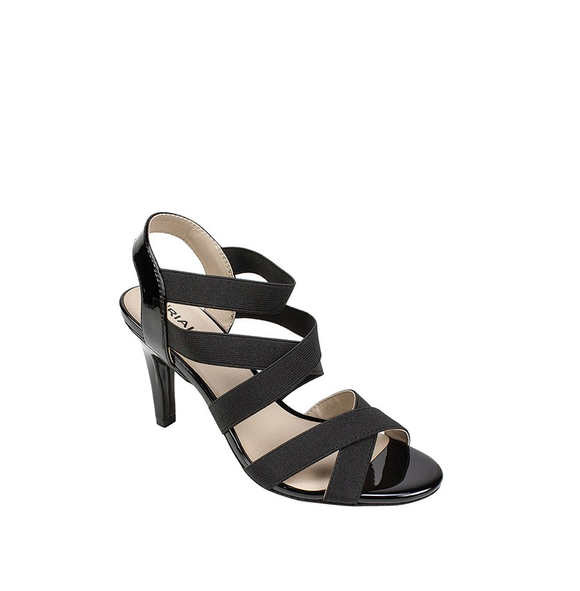 Roselle Strappy Dress Sandals, Black